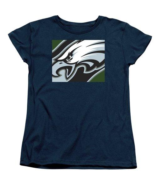 Philadelphia Eagles Football Women's T-Shirt (Standard Cut) by Tony Rubino