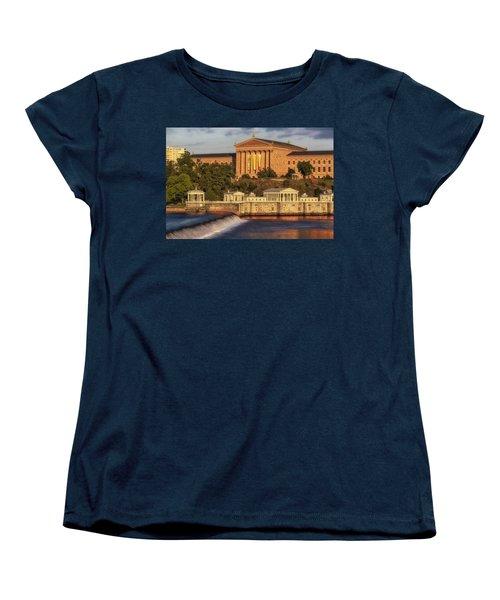 Philadelphia Museum Of Art Women's T-Shirt (Standard Cut) by Susan Candelario