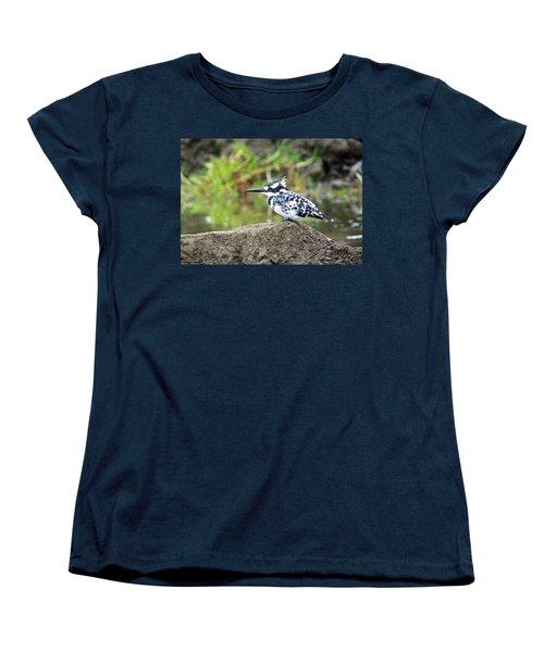 Pied Kingfisher Women's T-Shirt (Standard Cut) by Tony Murtagh
