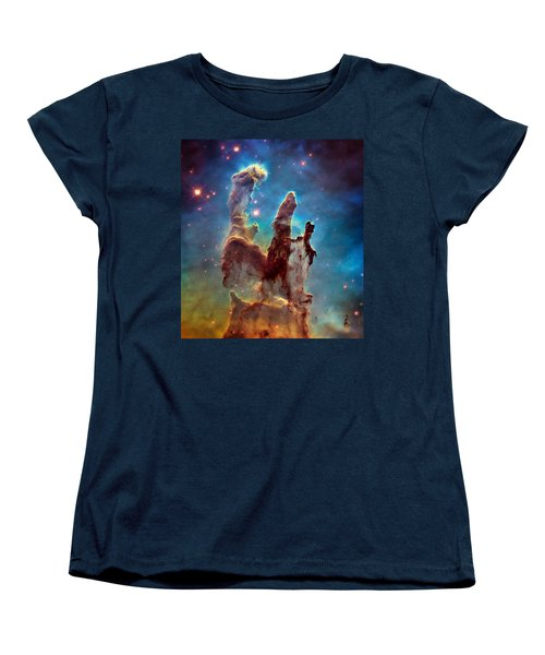Pillars Of Creation In High Definition - Eagle Nebula Women's T-Shirt (Standard Cut) by Jennifer Rondinelli Reilly - Fine Art Photography