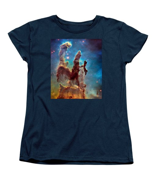 Pillars Of Creation In High Definition Cropped Women's T-Shirt (Standard Cut) by Jennifer Rondinelli Reilly - Fine Art Photography