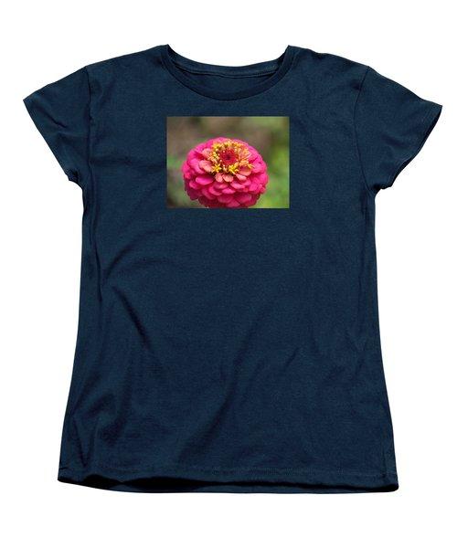 Pink Floral  Women's T-Shirt (Standard Cut) by Eunice Miller