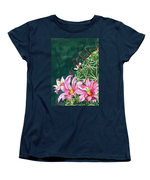 Women's T-Shirt (Standard Cut) featuring the painting Pink Beauty by Eric Samuelson