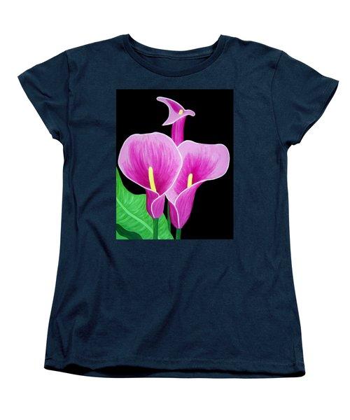 Pink Calla Lillies 2 Women's T-Shirt (Standard Cut)