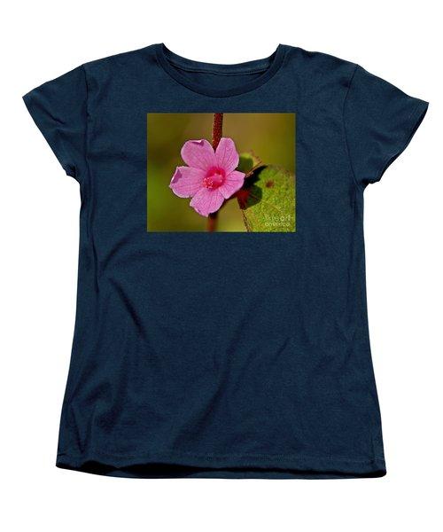 Women's T-Shirt (Standard Cut) featuring the photograph Pink Flower by Olga Hamilton