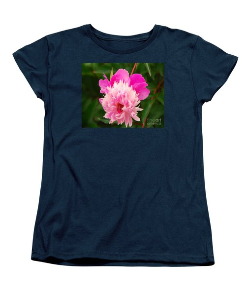 Women's T-Shirt (Standard Cut) featuring the photograph Pink Peony by Mary Carol Story