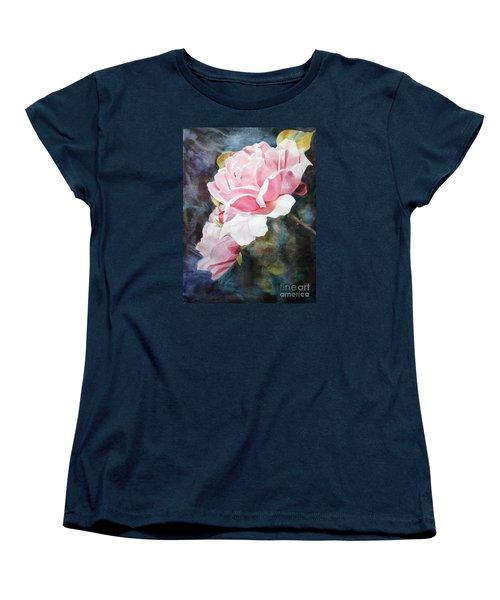 Pink Rose Caroline Women's T-Shirt (Standard Cut) by Greta Corens