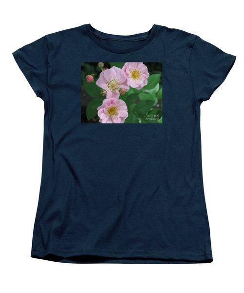 Pink Roses Women's T-Shirt (Standard Cut) by HEVi FineArt