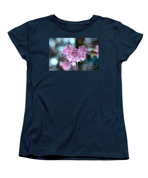 Pink Spring Heart Women's T-Shirt (Standard Cut) by Sabine Jacobs