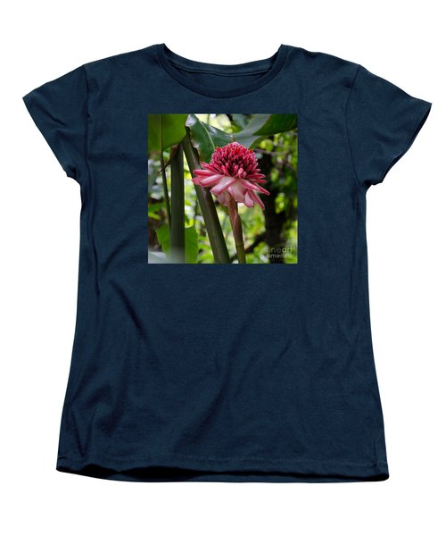 Pink Torch Ginger Women's T-Shirt (Standard Cut) by Laurel Best