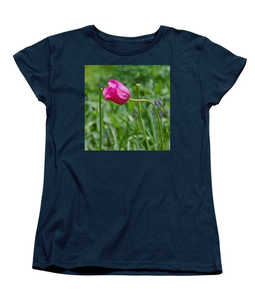 Women's T-Shirt (Standard Cut) featuring the photograph Pink Tulip by Aimee L Maher Photography and Art Visit ALMGallerydotcom