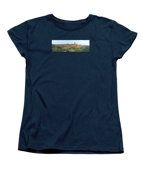 Women's T-Shirt (Standard Cut) featuring the photograph Pitigliano Panorama by Alan Socolik