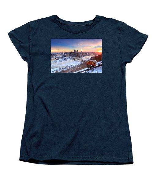 Pittsburgh Winter 2 Women's T-Shirt (Standard Cut) by Emmanuel Panagiotakis