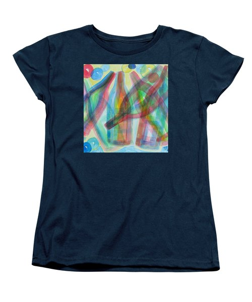 Women's T-Shirt (Standard Cut) featuring the painting Plaid Wine by Diane Pape
