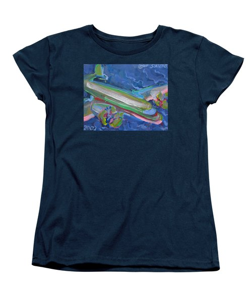 Plane Colorful Women's T-Shirt (Standard Cut)