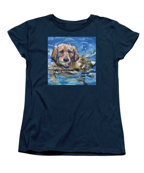 Playful Retriever Women's T-Shirt (Standard Cut)