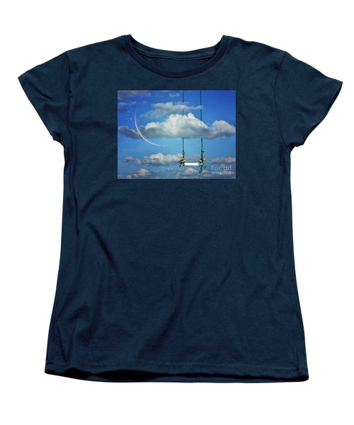 Playing In The Clouds Women's T-Shirt (Standard Cut) by Andrea Kollo