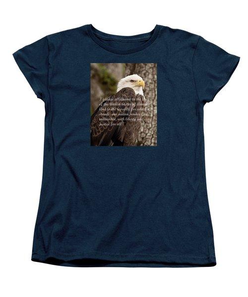 Pledge Of Allegiance Women's T-Shirt (Standard Cut) by John Black