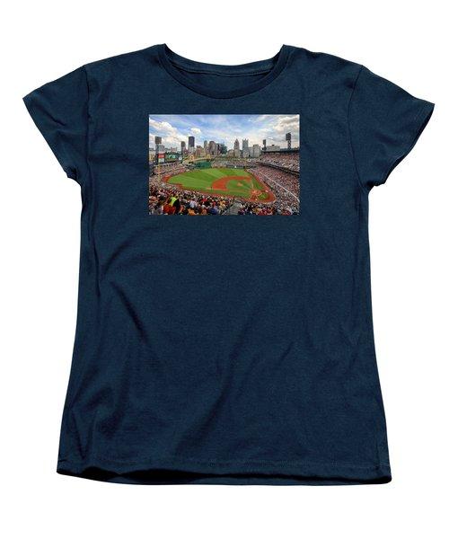 Pnc Park 2014 Women's T-Shirt (Standard Cut) by Emmanuel Panagiotakis