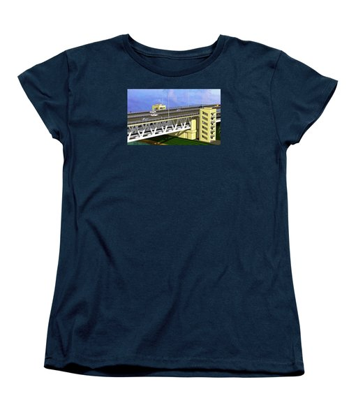 Podilsky Bridge Women's T-Shirt (Standard Cut) by Oleg Zavarzin