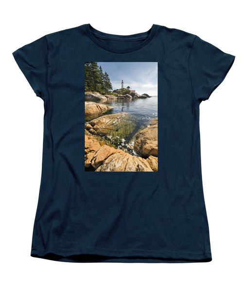 Women's T-Shirt (Standard Cut) featuring the photograph Point Atkinson Lighthouse In Vancouver Bc Vertical by JPLDesigns