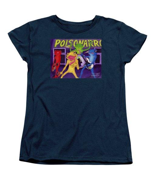 Poison-arrow Frog Band Women's T-Shirt (Standard Cut) by Samantha Geernaert