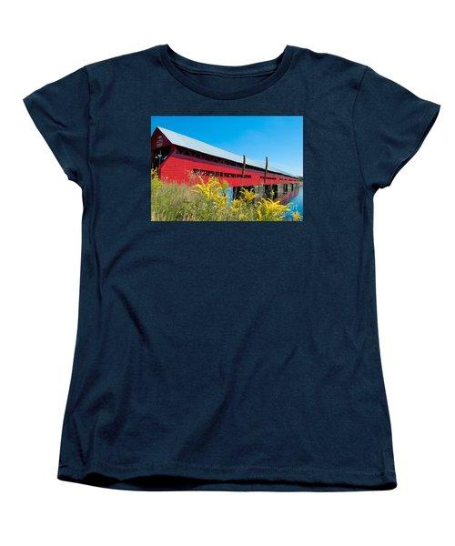 Women's T-Shirt (Standard Cut) featuring the photograph Pont Marchand by Bianca Nadeau