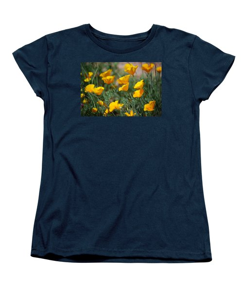 Women's T-Shirt (Standard Cut) featuring the photograph Poppies by Tam Ryan