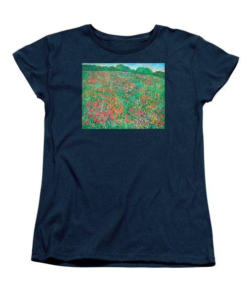 Poppy View Women's T-Shirt (Standard Cut) by Kendall Kessler