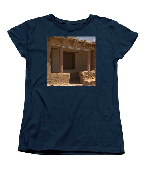 Porch Of Pueblo Home Women's T-Shirt (Standard Cut) by James Gay