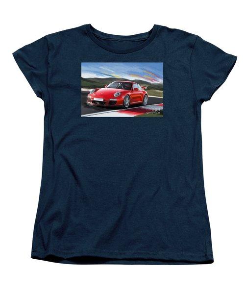 Porsche 911 Gt3 Women's T-Shirt (Standard Cut) by Tim Gilliland