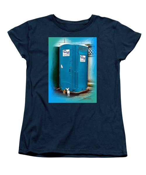 Women's T-Shirt (Standard Cut) featuring the photograph Porta Puppy Potty... by Sadie Reneau