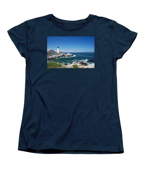 Portland Head Lighthouse Women's T-Shirt (Standard Cut) by Allen Beatty