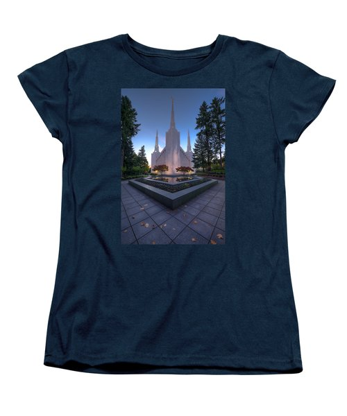 Portland Temple Women's T-Shirt (Standard Cut) by Dustin  LeFevre