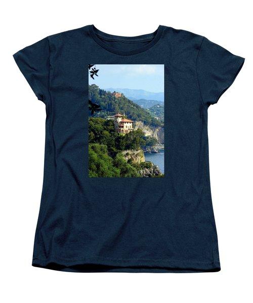 Portofino Coastline Women's T-Shirt (Standard Cut) by Carla Parris
