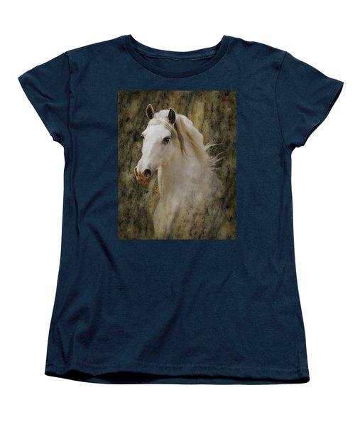 Portrait Of A Horse God Women's T-Shirt (Standard Cut) by Melinda Hughes-Berland