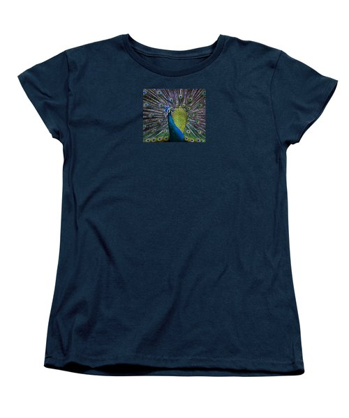 Portrait Of A Peacock Women's T-Shirt (Standard Cut) by Venetia Featherstone-Witty