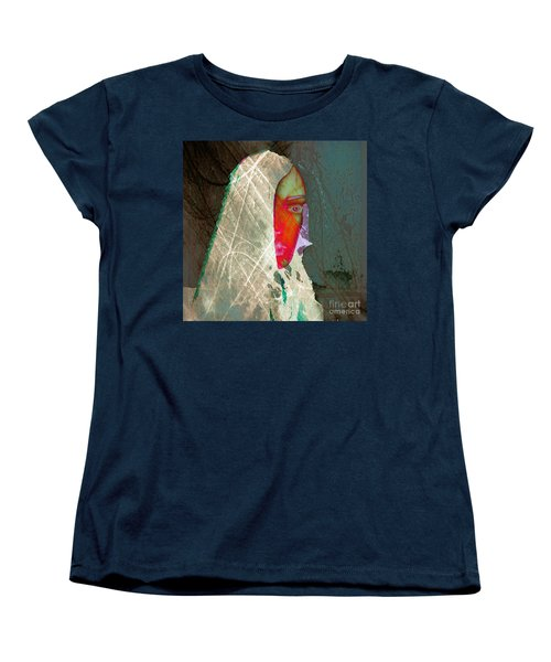 Portrait Of Horror Women's T-Shirt (Standard Cut) by Irma BACKELANT GALLERIES