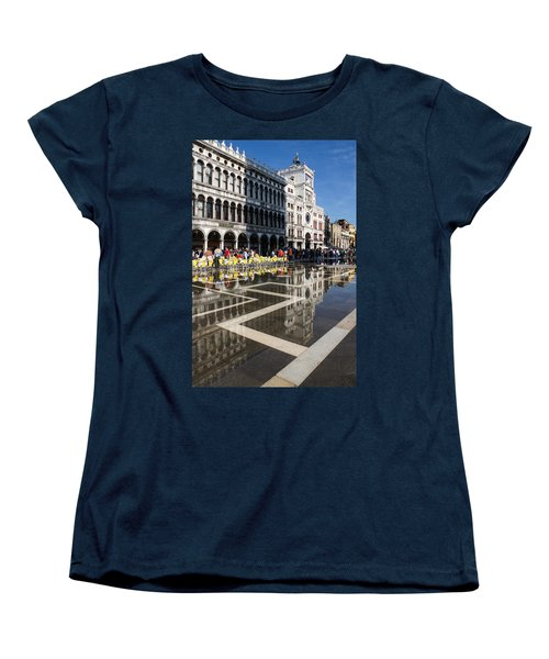 Women's T-Shirt (Standard Cut) featuring the photograph Postcard From Venice by Georgia Mizuleva