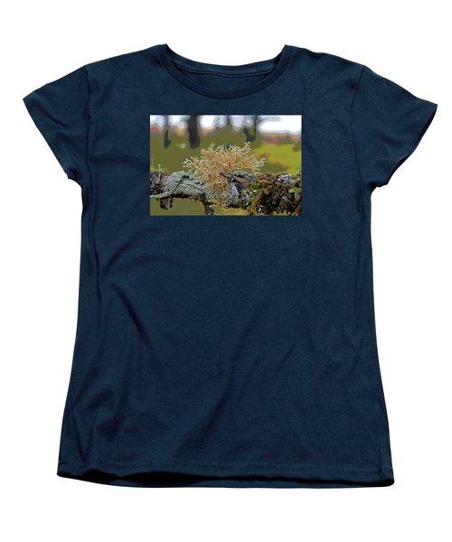 Posterized Antler Lichen Women's T-Shirt (Standard Cut)