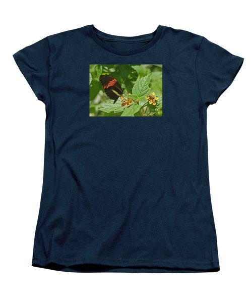 Women's T-Shirt (Standard Cut) featuring the photograph Postman Butterfly 1 by Rudi Prott
