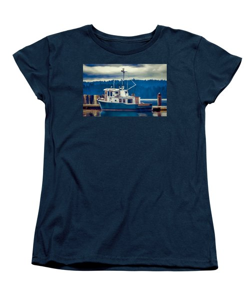 Poulsbo Waterfront 03 Women's T-Shirt (Standard Cut) by Wally Hampton