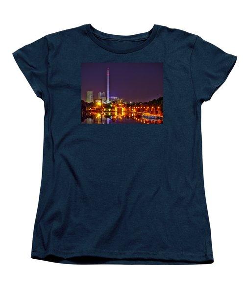 Powerhouse In A Sea Of Lights Women's T-Shirt (Standard Cut) by Daniel Heine