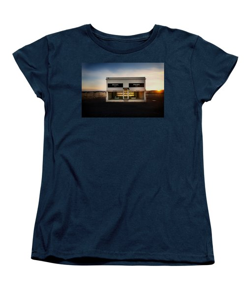 Prada Marfa Women's T-Shirt (Standard Cut) by Mountain Dreams