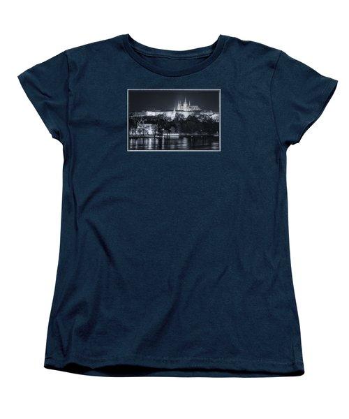 Prague Castle At Night Women's T-Shirt (Standard Cut) by Joan Carroll