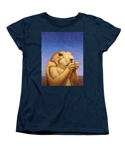 Women's T-Shirt (Standard Cut) featuring the painting Prairie Dog by James W Johnson