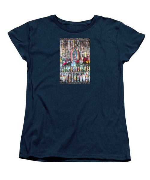Women's T-Shirt (Standard Cut) featuring the photograph Prayers To Our Lady Of Guadalupe by Lanita Williams