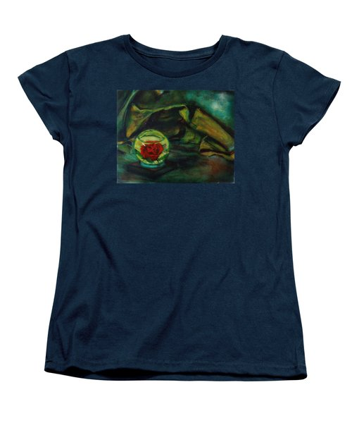 Preserved Rose . . Draped Canvas Women's T-Shirt (Standard Cut) by Sean Connolly