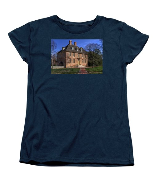 Women's T-Shirt (Standard Cut) featuring the photograph President's House College Of William And Mary by Jerry Gammon