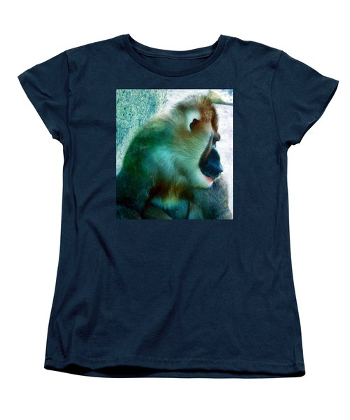 Women's T-Shirt (Standard Cut) featuring the photograph Primate 1 by Dawn Eshelman